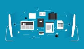 Flache Illustration der Datenübertragung Lizenzfreie Stockbilder