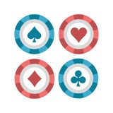 Flache Illustration der Pokerchips stock abbildung