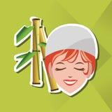 Flache Illustration des Badekurortmittedesigns, edita Lizenzfreie Stockbilder