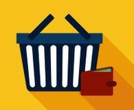 Flache Illustration des Einkaufsdesigns Stockfoto