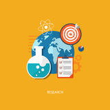 Flache Illustration des Forschungskonzeptes Lizenzfreies Stockfoto
