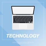 Flache Illustration des Laptops Lizenzfreie Stockbilder