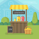 Flache Illustration des Limonadestandes Stockfoto