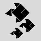 Flache Illustration des Origamidesigns Lizenzfreies Stockfoto