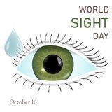 Flache Illustration des Weltanblick-Tagesvektor-Konzept-Hintergrundes stock abbildung