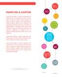 Flache Illustration Digital-Marketings Stockbild