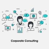 Flache Illustration für Betriebsberatungskonzept Lizenzfreies Stockfoto