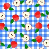Flache Illustration Nahtloses Muster Hintergrund mit Rot stockbild