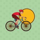 Flache Illustration von Fahrrad lifesyle Design, edita Lizenzfreie Stockbilder