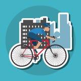 Flache Illustration von Fahrrad lifesyle Design, edita Lizenzfreies Stockbild