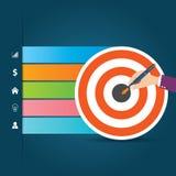 Flache Infographics-Schablone und Netz-Element-Geschäft, Computer, vermarktendes Konzept Lizenzfreie Stockfotografie
