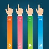 Flache Infographics-Schablone und Netz-Element-Geschäft, Computer, vermarktendes Konzept Stockfotografie