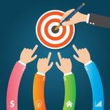 Flache Infographics-Schablone und Netz-Element-Geschäft, Computer, vermarktendes Konzept Stockbild