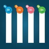 Flache Infographics-Schablone und Netz-Element-Geschäft, Computer, vermarktendes Konzept Stockbilder