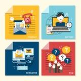 Flache Konzept- des Entwurfesillustration für Newsletter und Unterstützung Lizenzfreies Stockbild