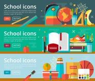 Flache Konzepte des Entwurfes des Vektors der Bildung Lizenzfreies Stockbild