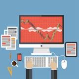 Flache Konzepte des Entwurfes für strategisches Marketing Lizenzfreies Stockfoto