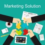 Flache Konzepte des Entwurfes für vermarktende Lösung, lizenzfreie abbildung