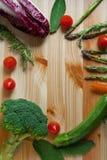 Flache Lage des Gemüses gefärbt Lizenzfreies Stockfoto
