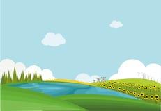 Flache Landschaft Stockfoto