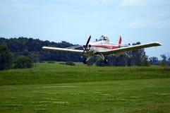Flache Landung Stockfoto