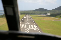 Flache Landung Stockbild