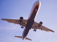 Flache Landung Aeroflot-Fluglinien Lizenzfreies Stockbild