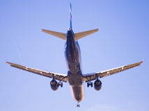 Flache Landung Aeroflot-Fluglinien Lizenzfreies Stockfoto