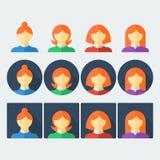 Flache Leute-Ikonen stock abbildung