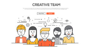 Flache Linie grafisches Bildkonzept des Designs Lizenzfreies Stockbild