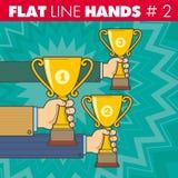 Flache Linie Hände 2 lizenzfreie abbildung