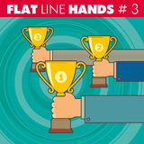 Flache Linie hands_3 vektor abbildung