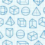 Flache Linie Ikonen des geometrischen Musters der Formen nahtlosen Moderner abstrakter Hintergrund für Geometrie, Matheausbildung vektor abbildung
