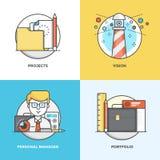 Flache Linie Konzeptdesign 5 Lizenzfreie Stockbilder