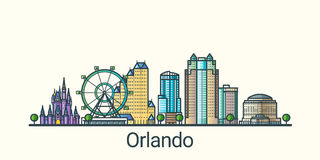 Flache Linie Orlando-Fahne Stockbild