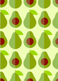 Flache nette Avocado und Hälfte mit Samen Lizenzfreies Stockbild