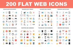 Flache Netz-Ikonen Stockbilder