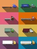 Flache Nutzfahrzeuge eingestellt Stockbilder