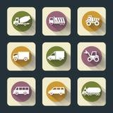 Flache Reise-Ikonen Stockbild