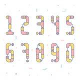 Flache Rohr-Zahlen Stockbild