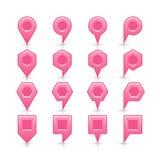Flache rosa Farbkartestiftvorzeichenstelleikone Lizenzfreies Stockfoto