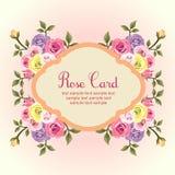 Flache rosafarbene Karte Lizenzfreie Stockfotografie