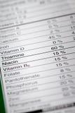 Flache Schärfentiefe Bild von Nahrungs-Tatsachen Lizenzfreies Stockfoto