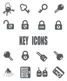 Flache Schlüsselikone eingestellt - ENV 10 Lizenzfreies Stockfoto
