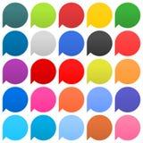 Flache Spracheblasenzeichennetzikonen-Kreisform Stockfoto