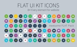 Flache ui Ausrüstungs-Satzikonen für webdesign oder bewegliches Design Stockfoto