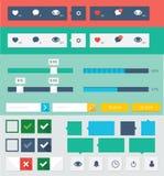 Flache ui Ausrüstungsgestaltungselemente für webdesign Stockbilder