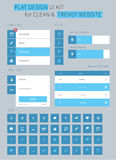 Flache ui Ausrüstungsgestaltungselemente für webdesign Stockfotos