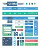 Flache ui Ausrüstungsgestaltungselemente für webdesign Stockbild