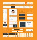 Flache ui Ausrüstungsgestaltungselemente für webdesign Stockfoto